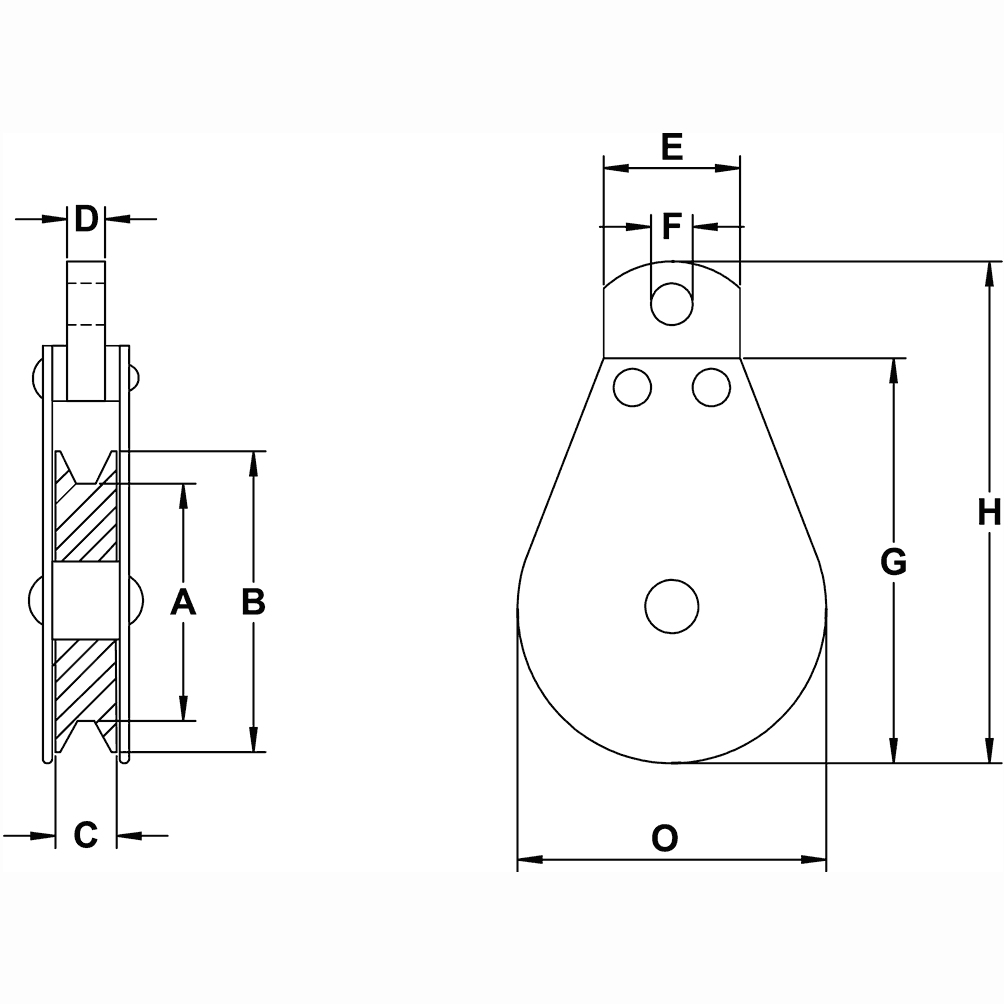 double pulley system diagram