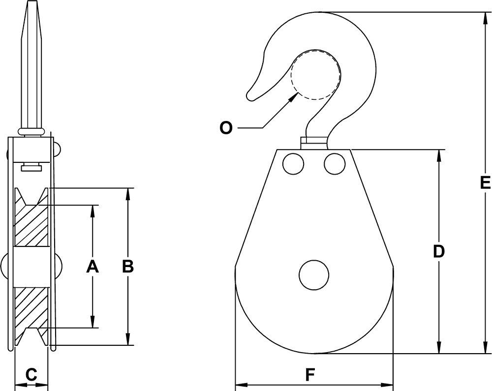 Snatch Type Swivel Hook Blocks For Cable